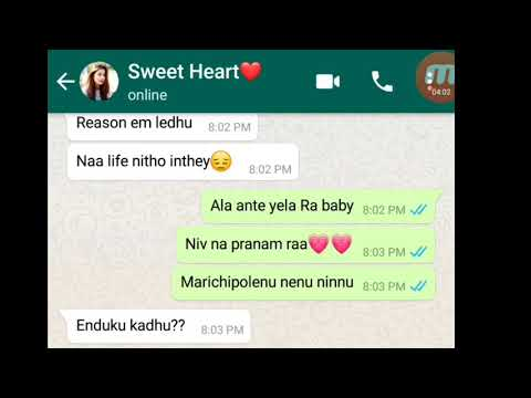 WhatsApp Love story||Real Love||Girl chat in Telugu