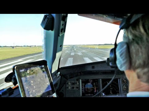 Cockpit View - SAS Airbus A320-200 [OY-KAR] Cockpit Takeoff from Copenhagen Airport