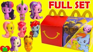 My Little Pony Cutie Mark Crew MLP McDonald's Happy Meal Toys Full Set