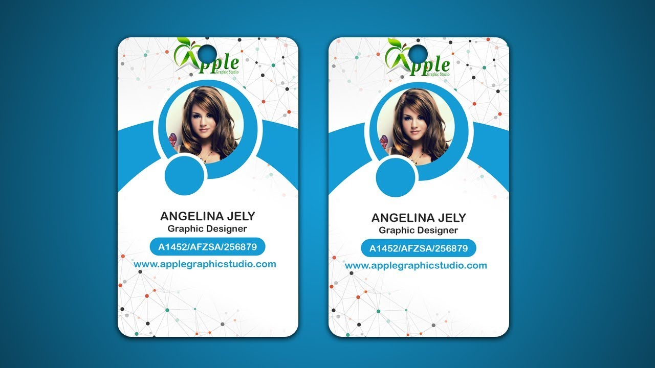 design id cards id badge adobe photoshop tutorial youtube