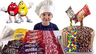 VLOG Тимур. Делаем 3D торт M&M's на День рождения Тимура