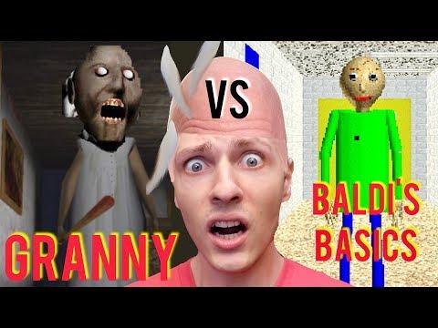 GRANNY VS BALDIS BASICS : LE CHOC DE LHORREUR ! DELIRES DE MAX