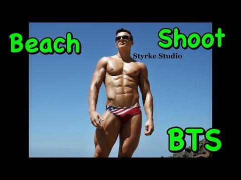 Teen Bodybuilding Beach Photo Shoot Mike Pawlenko Styrke Studio