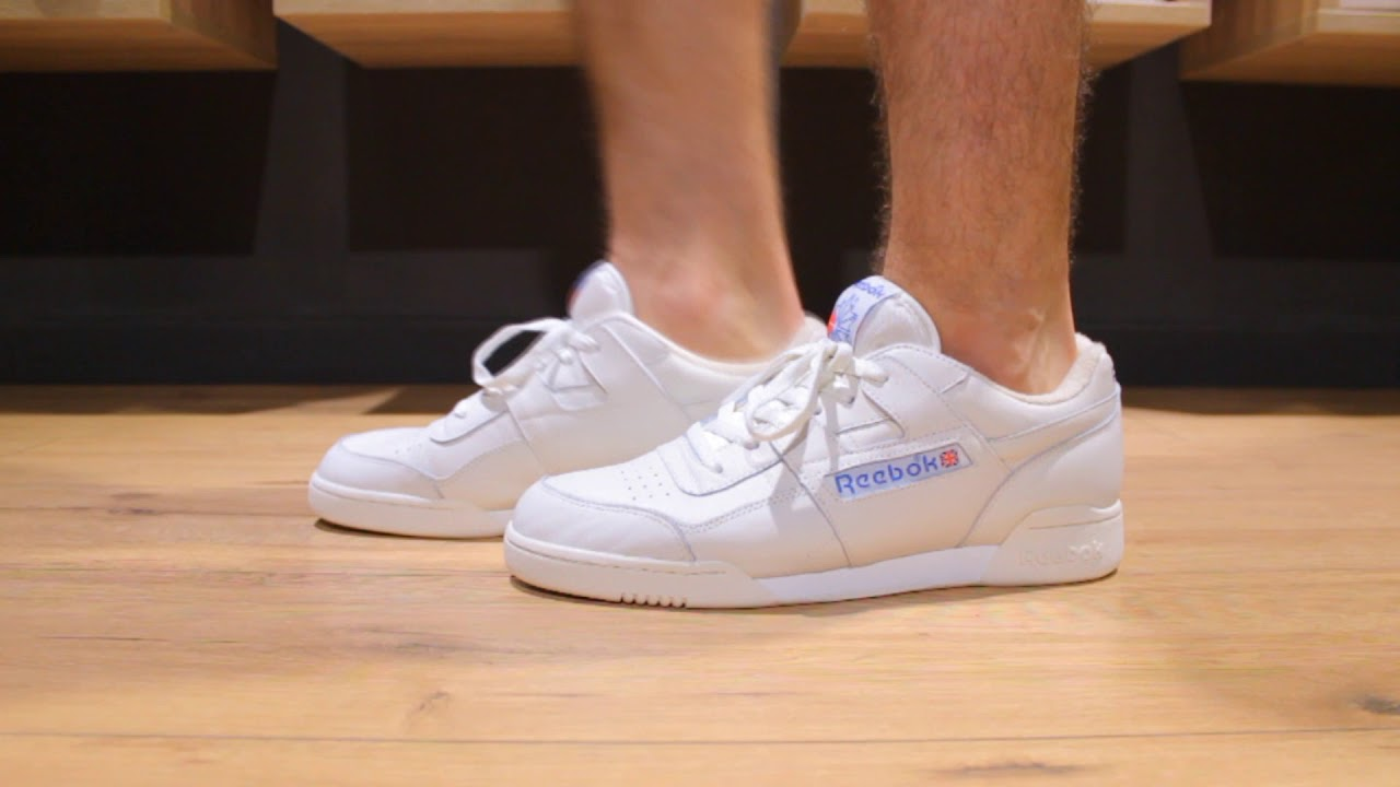 reebok workout plus vintage sneaker on feet
