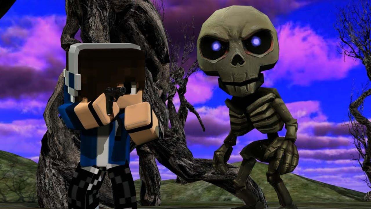 Minecraft vs Skeleton  Animaton fighting
