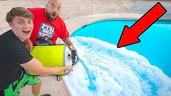 POURING LIQUID NITROGEN IN POOL!!
