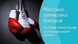 Массовая тренировка боксеров в Петропавловской крепости. Онлайн-трансляцияш