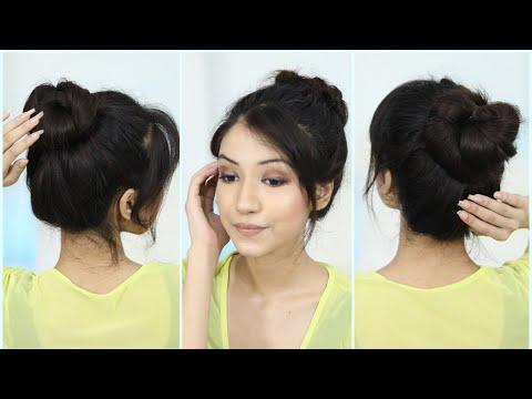 3-new-bun-hairstyle-for-medium-hair,-long-hair-|-messy-bun-hairstyle,-updo-hairstyle,-long-hairstyle