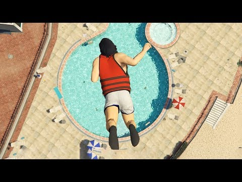 GTA 5 Jumps/Falls Ragdolls Compilation  (Euphoria physics Fails Funny Moments)