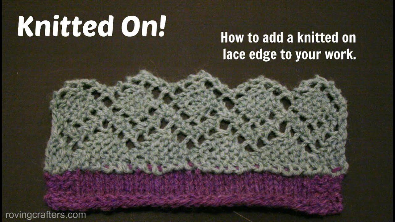 Knitting Lace Border : Knitting a lace border youtube