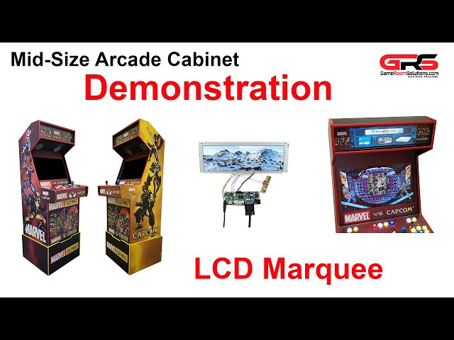 GRS Mid Size Arcade Cabinet with LCD Marquee