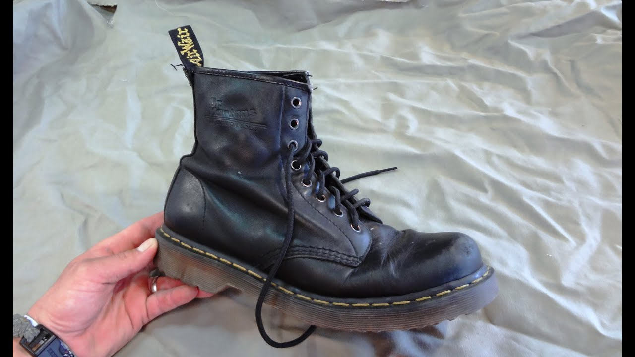 56ee50376abd57 HOW TO CLEAN DR MARTENS LEATHER BOOTS - YouTube