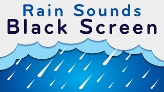 Rain Sounds Black Screen | Sleep, Focus, Relax | White Noise 10 Hours