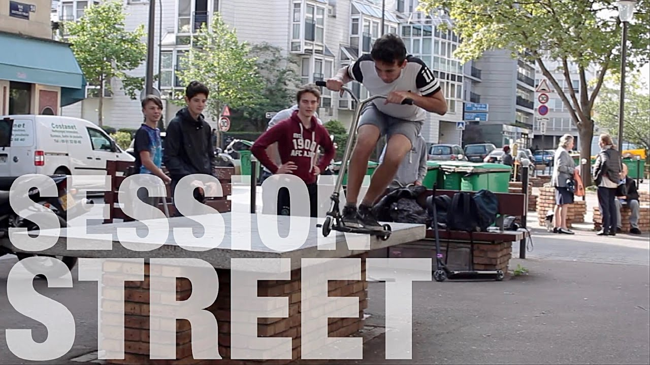 freestyle scooter l street session in paris youtube. Black Bedroom Furniture Sets. Home Design Ideas