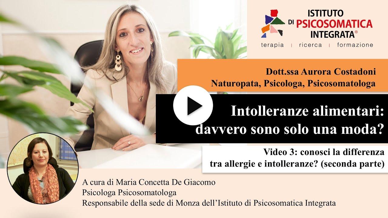 Conosci la differenza fra allergie e intolleranze? (seconda parte)