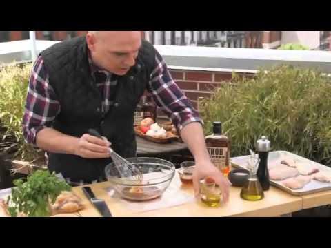 Chef Michael Symon Grills Chicken with Knob Creek Bourbon