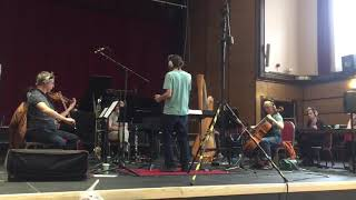 "Ben Mowat conduction ""Honey, the single mum leopard"" film cue, Recording session."