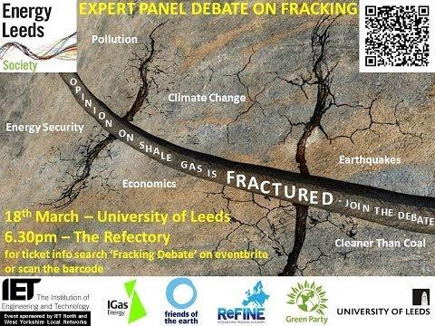 Energy Leeds & IET Fracking Debate March 2014