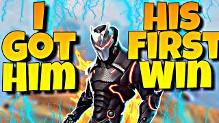 Getting Him His First Win (FORTNITE BATTLE royal)