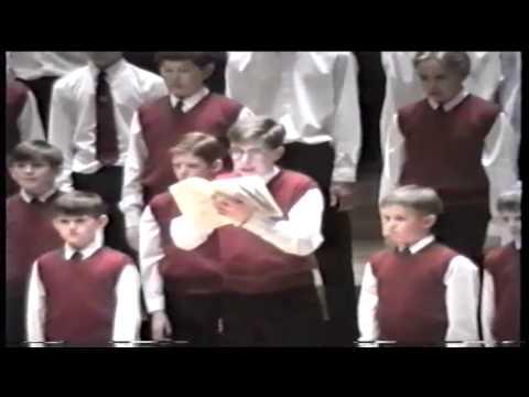 Hear My Prayer O For The Wings Of A Dove Thomas Jackson RNCM Manchester Boys Choir 1992