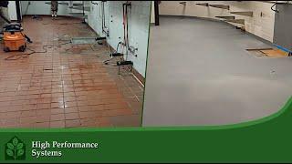 Commercial Kitchen Floor Installation & Waterproofing