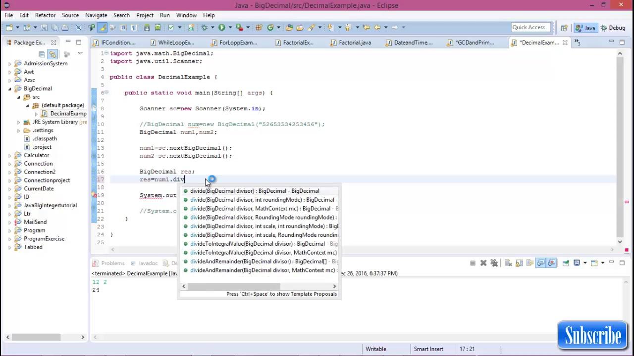 Java biginteger #8 BigDecimal in java - YouTube