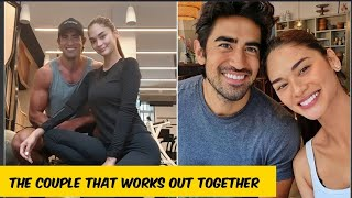 Jeremy Jauncey and Pia Wurtzbach work out together for the first time