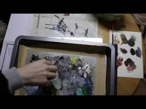 Oil painting landscape for beginners