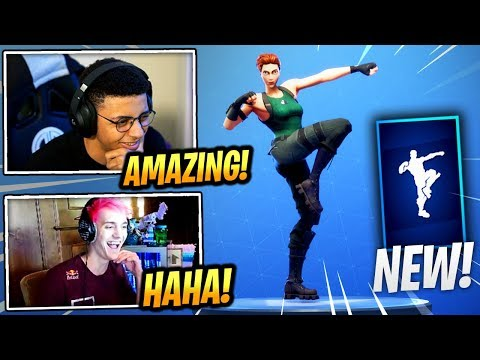 "STREAMERS REACT *NEW* ""WORK IT OUT"" EMOTE/DANCE! - Fortnite Epic & Funny Moments (Fortnite BR)"