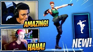 """STREAMERS REACT *NEW* """"WORK IT OUT"""" EMOTE/DANCE! - Fortnite Epic & Funny Moments (Fortnite BR)"""