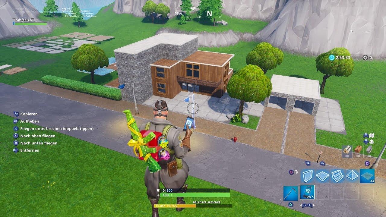 Fortnite lets build a modern house part 1