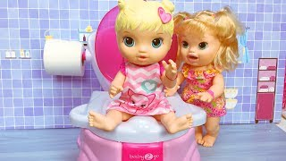 Video Baby Alive Oyuncak Bebek tuvalette | Evcilik TV Bebek Videoları download MP3, 3GP, MP4, WEBM, AVI, FLV November 2017