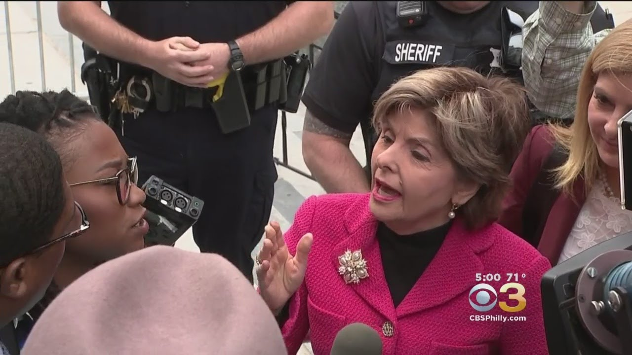 Cosby Publicist Confronts Lawyer Gloria Allred Outside Courthouse