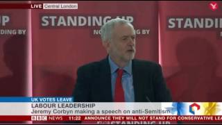 Jeremy Corbyn Appears to Compare Israel to ISIS During Antisemitism Speech