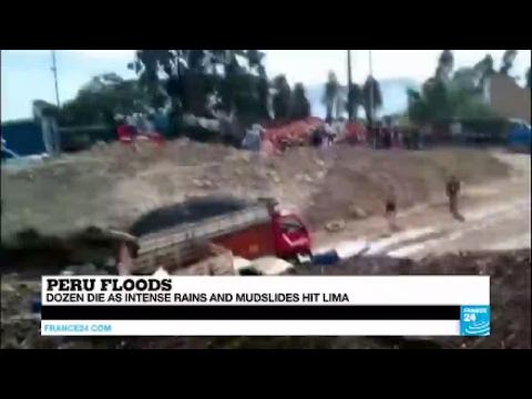 Peru: Dozen die as intense rains and muslides hit Lima