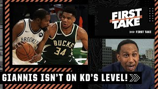 'He's not Kevin Durant, let's stop that right now!' - Stephen A. on Giannis vs. KD