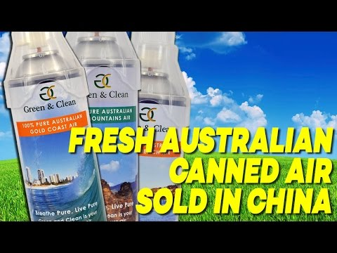 FRESH Australian CANNED AIR Sells in China for $18.80 a Can