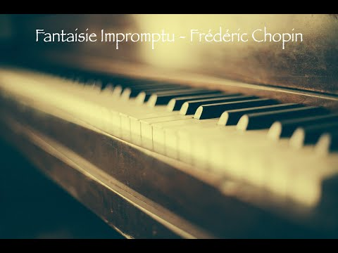 Classical Piano By Frédéric Chopin   Fantaisie Impromptu   (Complete Black Screen)   1 Hour +