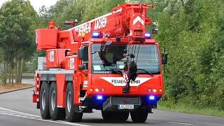 [Chaos, Kran & Durchsagen] Einsatzfahrten Rüstzug Bergung || Feuerwehr Aachen