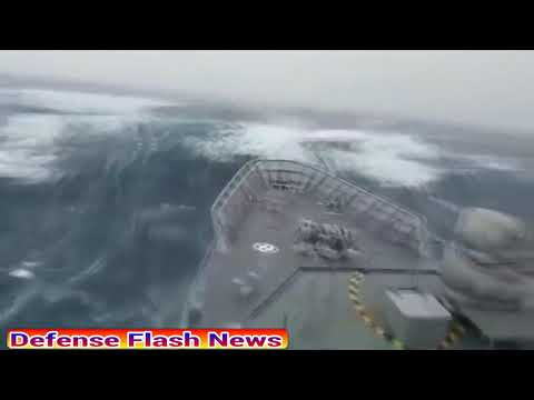 GIANT WAVE HITS SHIP! Sturdy NZ Navy patrol vessel successfully navigates THROUGH MASSIVE SEAS!