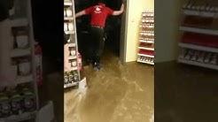 Sky Markt uterwasser! Starker Regenfall In Schleswig-Holstein