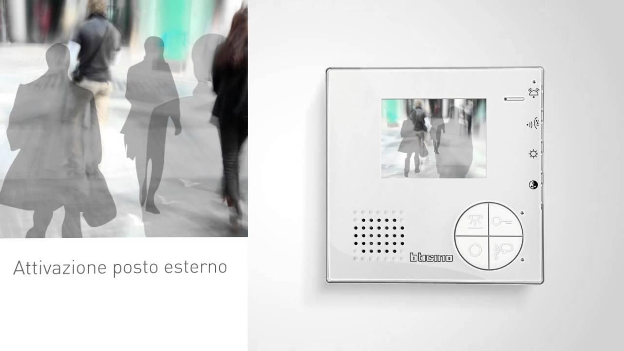 Schema Elettrico Citofono Bticino : Nuovo videocitofono bticino classe youtube