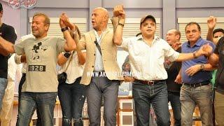 هنيدي وشريف منير يحتفلان بعيد ميلاد «عبدالباقي» بمسرح مصر