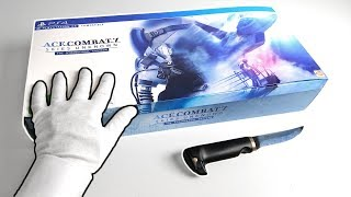 Unboxing Ace Combat 7: Skies Unknown Collector's Edition - BATTLE ROYAL Mode - PS4 Flight Stick