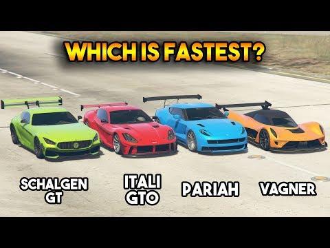 GTA 5 ONLINE : ITALI GTO VS SCHALGEN GT VS PARIAH VS VAGNER (WHICH IS FASTEST?) thumbnail