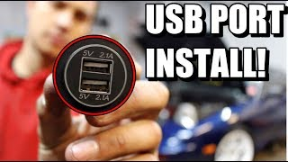 HOW TO INSTALL USB PORTS TO ANY CAR! *SO EASY*