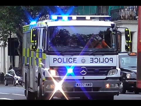 RARE London Ambulance officer car & British Transport Police ERU responding