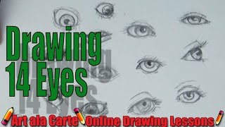 Drawing 14 EYES:  How to draw a human EYE