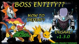 [TRICK?!]HOW TO BEAT BOSS ENTITY WITH NORMAL POKEMON_ PROJECT POKEMON: ROBLOX