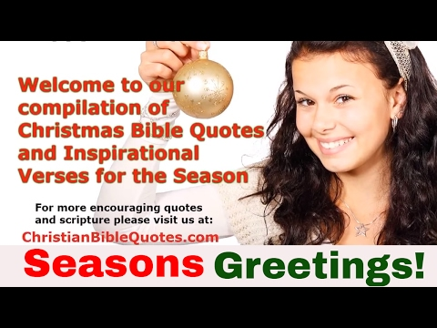 Christmas Bible Verses And Scripture About The Birth Of Jesus Christ
